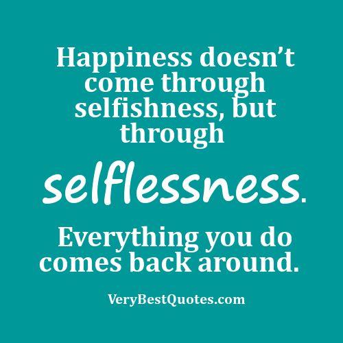 selflessnessHappy